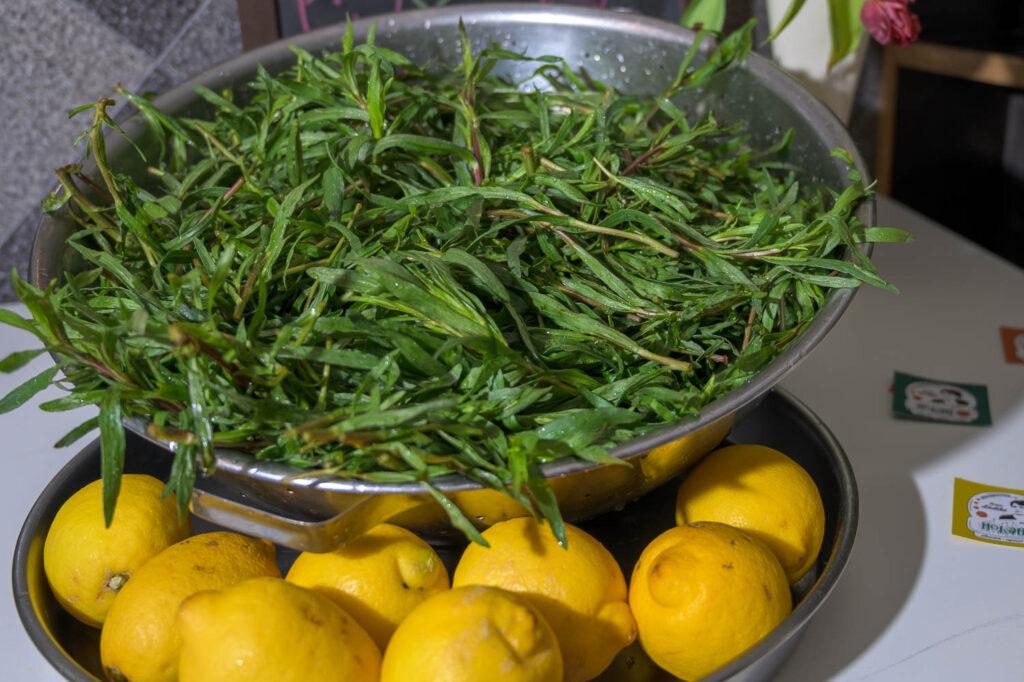 Estragon und Zitrone