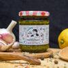 sieben Kräuter Zitrone Salzpaste im Glas